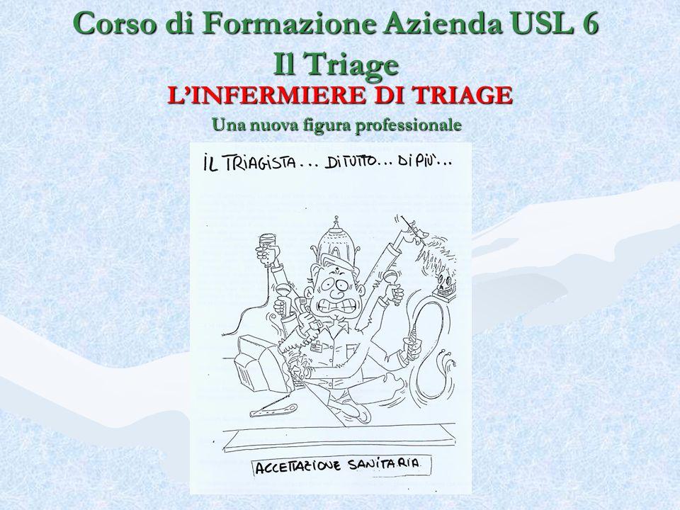 LINFERMIERE DI TRIAGE Una nuova figura professionale Corso di Formazione Azienda USL 6 Il Triage