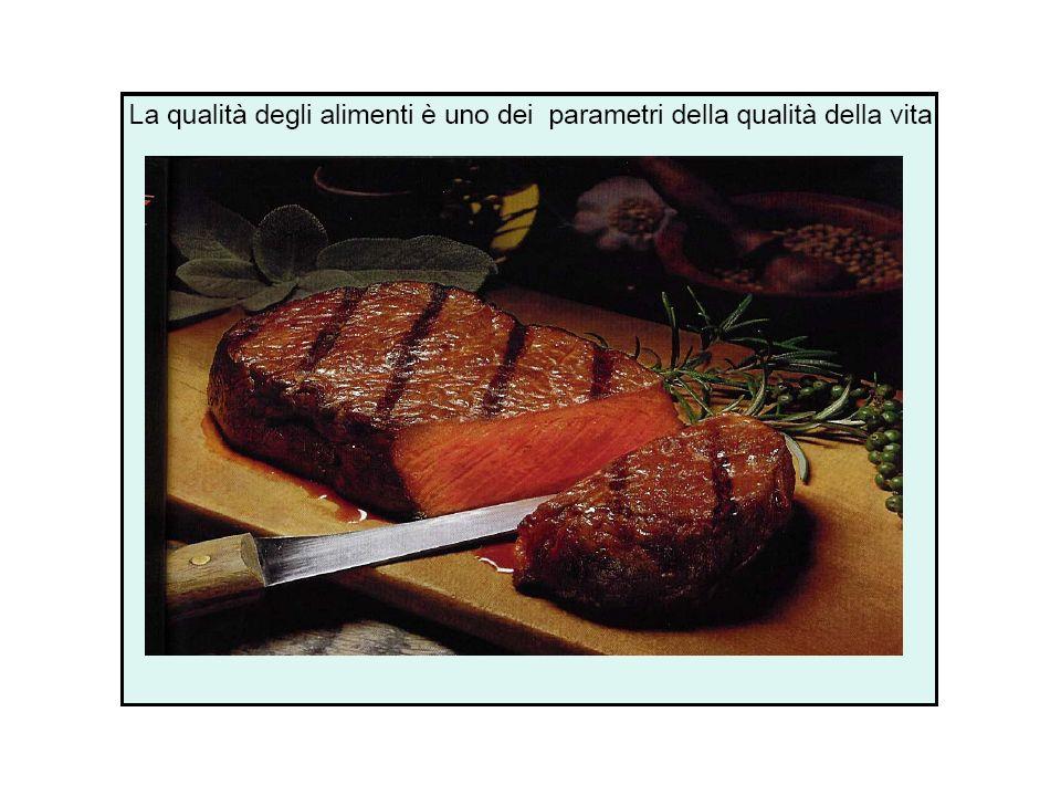 LA CARNE La carne è la materia organica costituente gli animali, con particolare riferimento ai tessuti molli dei medesimi ed ancora più specificamente al tessuto muscolare, parte pregiata contrapposta alle interiora.
