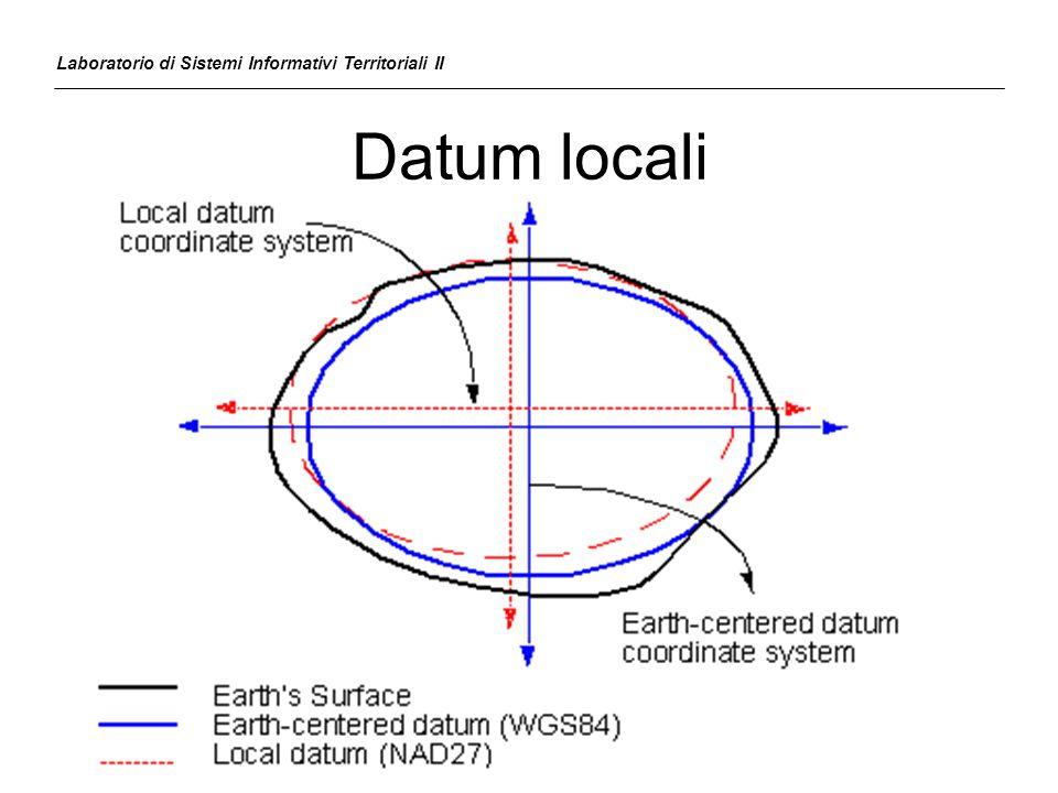 Datum locali Laboratorio di Sistemi Informativi Territoriali II