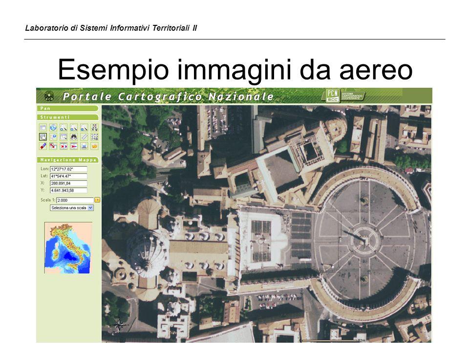 Georeferenziazione Il ricampionamento dellimmagine da georeferenziare permette il riallineamento dei pixel GCPs immagine da georeferenziare GCPs cartografia di riferimento Laboratorio di Sistemi Informativi Territoriali II