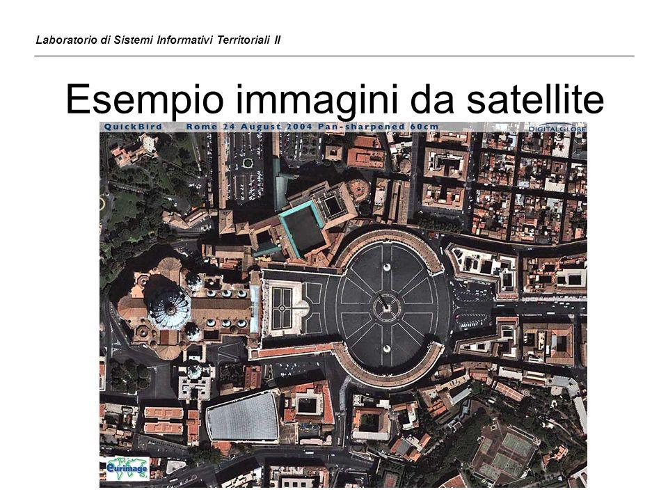 Esercizio Georeferenziare su base B37410C1.dwg limmagine satellitare Test.tif Laboratorio di Sistemi Informativi Territoriali II