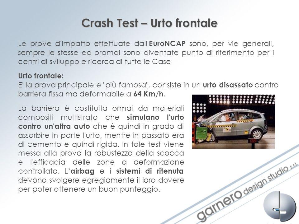 Crash Test – Urto frontale Le prove d'impatto effettuate dall' EuroNCAP sono, per vie generali, sempre le stesse ed oramai sono diventate punto di rif