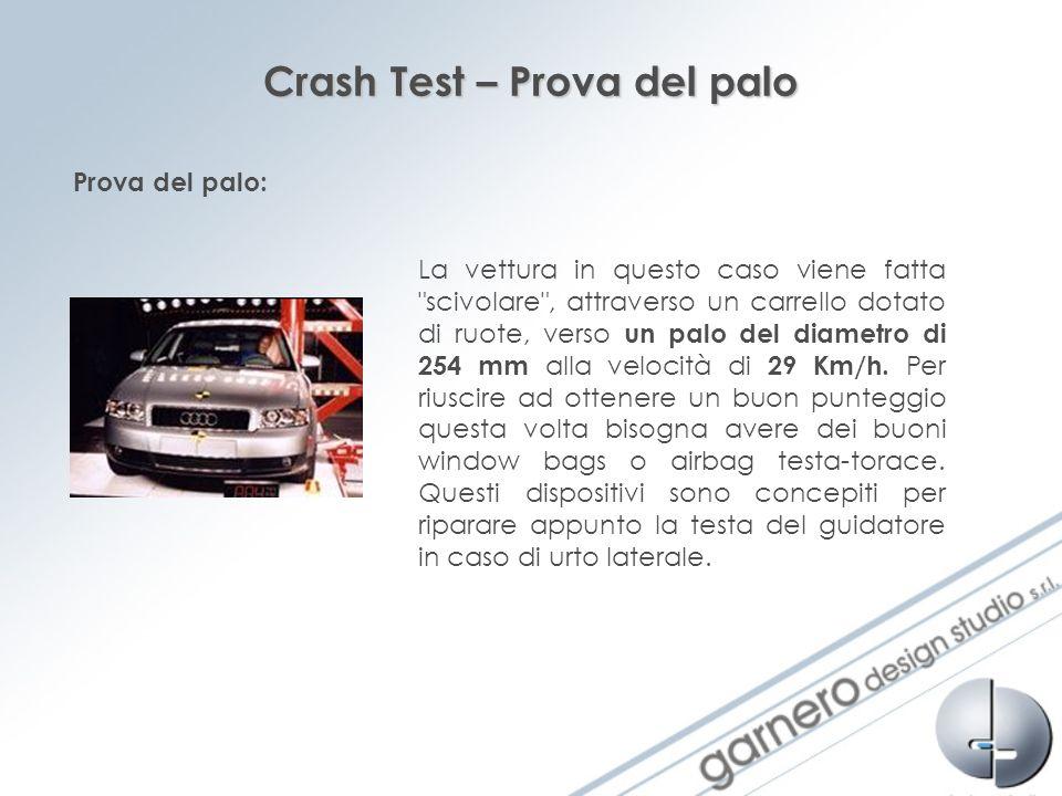 Crash Test – Prova del palo La vettura in questo caso viene fatta