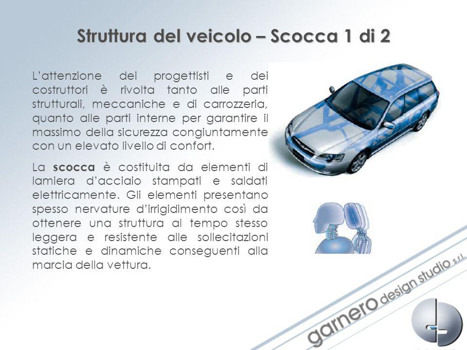 Struttura del veicolo – Scocca 2 di 2 Anche se leggera, la scocca dei veicoli è straordinariamente rigida e concepita per offrire la massima protezione in caso di collisione.