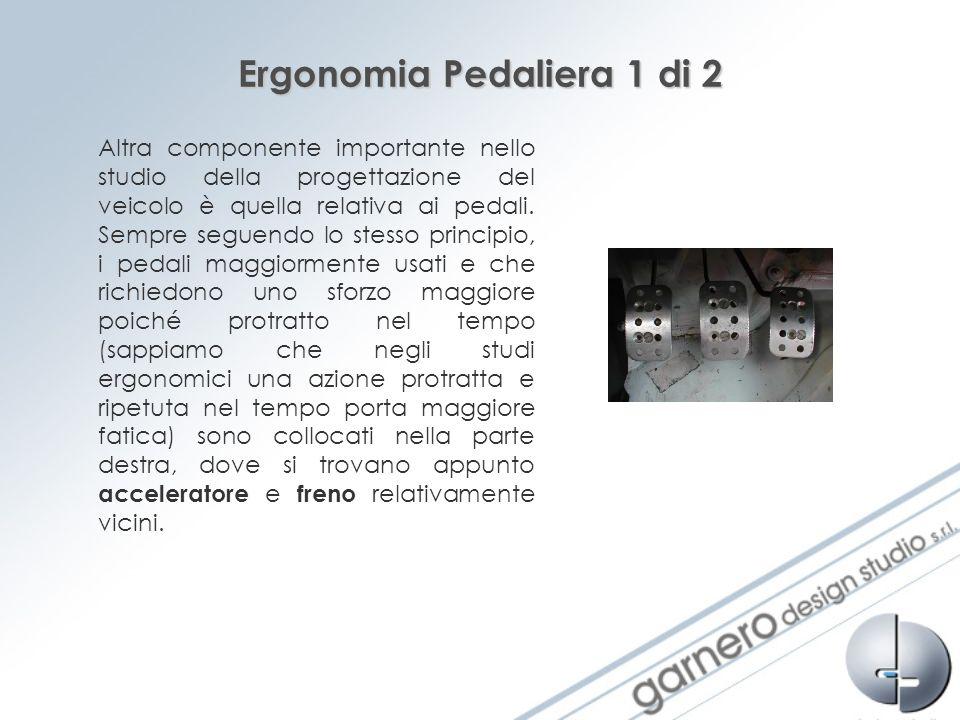 Ergonomia Pedaliera 1 di 2 Altra componente importante nello studio della progettazione del veicolo è quella relativa ai pedali. Sempre seguendo lo st