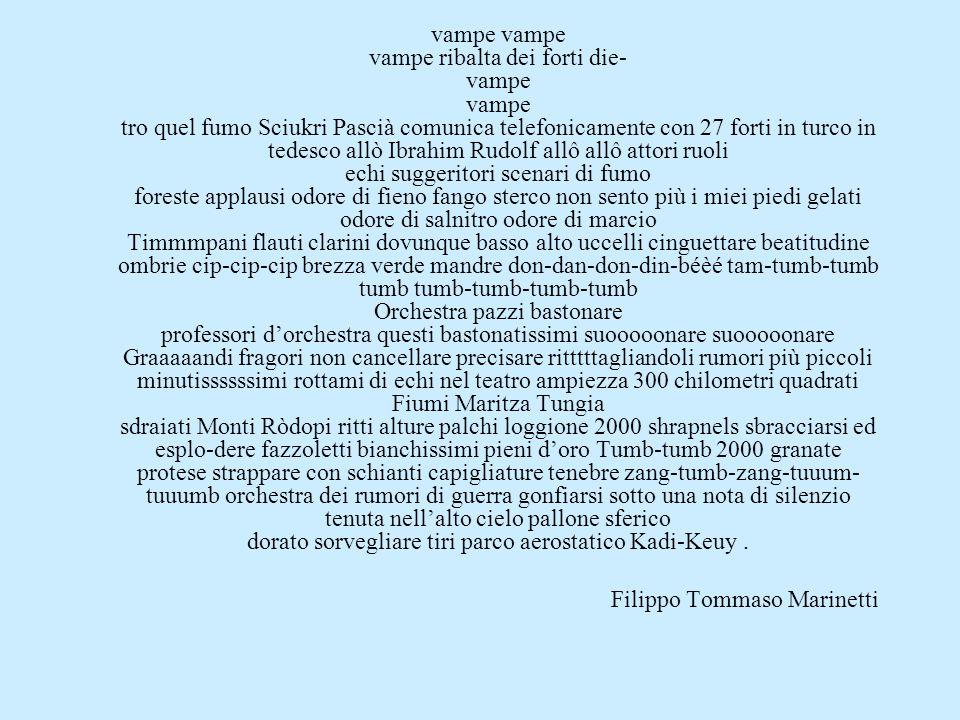 vampe vampe vampe ribalta dei forti die- vampe vampe tro quel fumo Sciukri Pascià comunica telefonicamente con 27 forti in turco in tedesco allò Ibrah