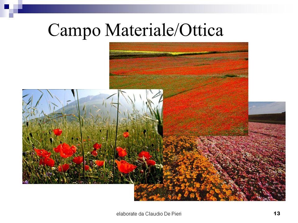 elaborate da Claudio De Pieri13 Campo Materiale/Ottica