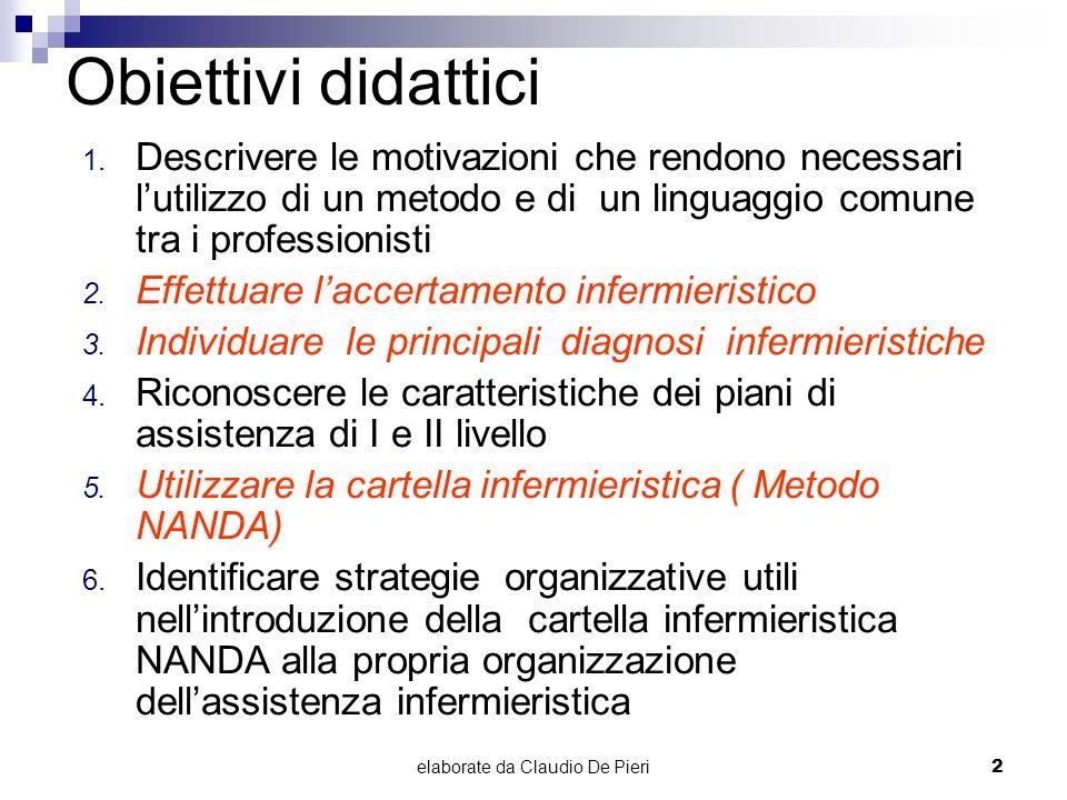 elaborate da Claudio De Pieri2 Obiettivi didattici 1. Descrivere le motivazioni che rendono necessari lutilizzo di un metodo e di un linguaggio comune