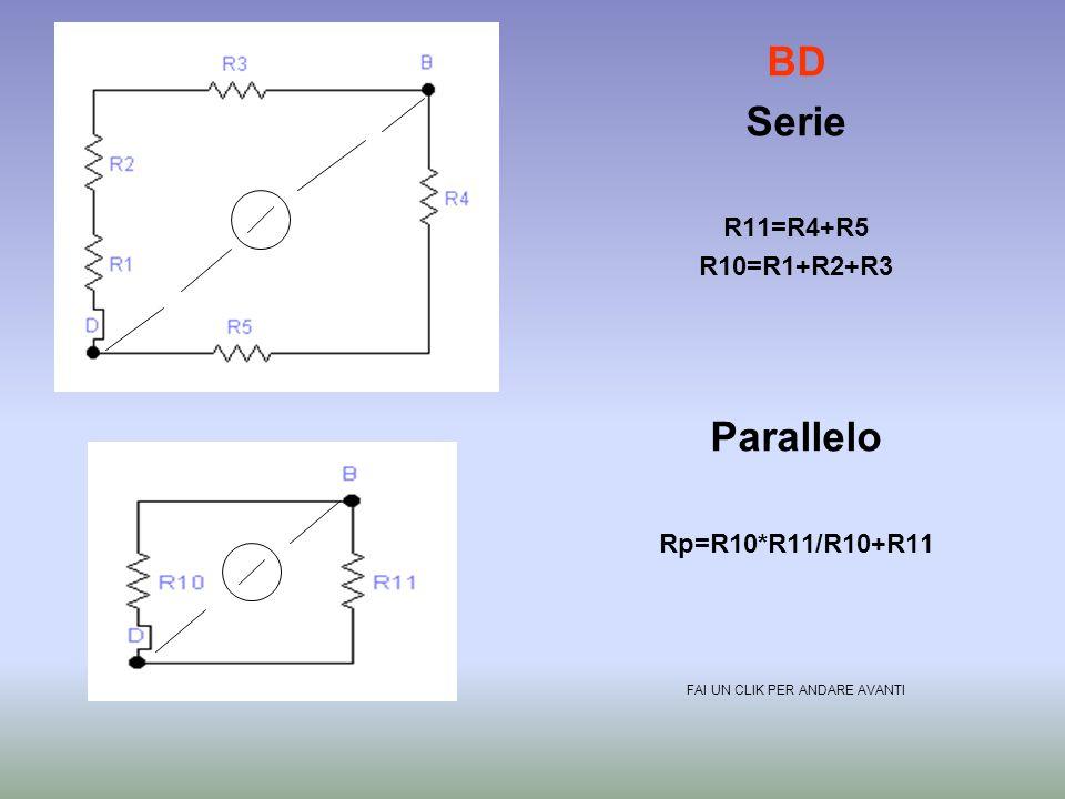 BC Serie R10=R1+R2+R3+R5 Parallelo Rp=R10*R4/R10+R4