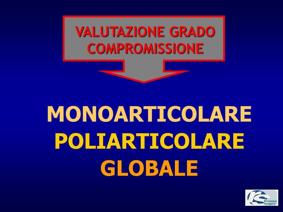 GLOBALE POLIARTICOLARE MONOARTICOLARE VALUTAZIONE GRADO COMPROMISSIONE