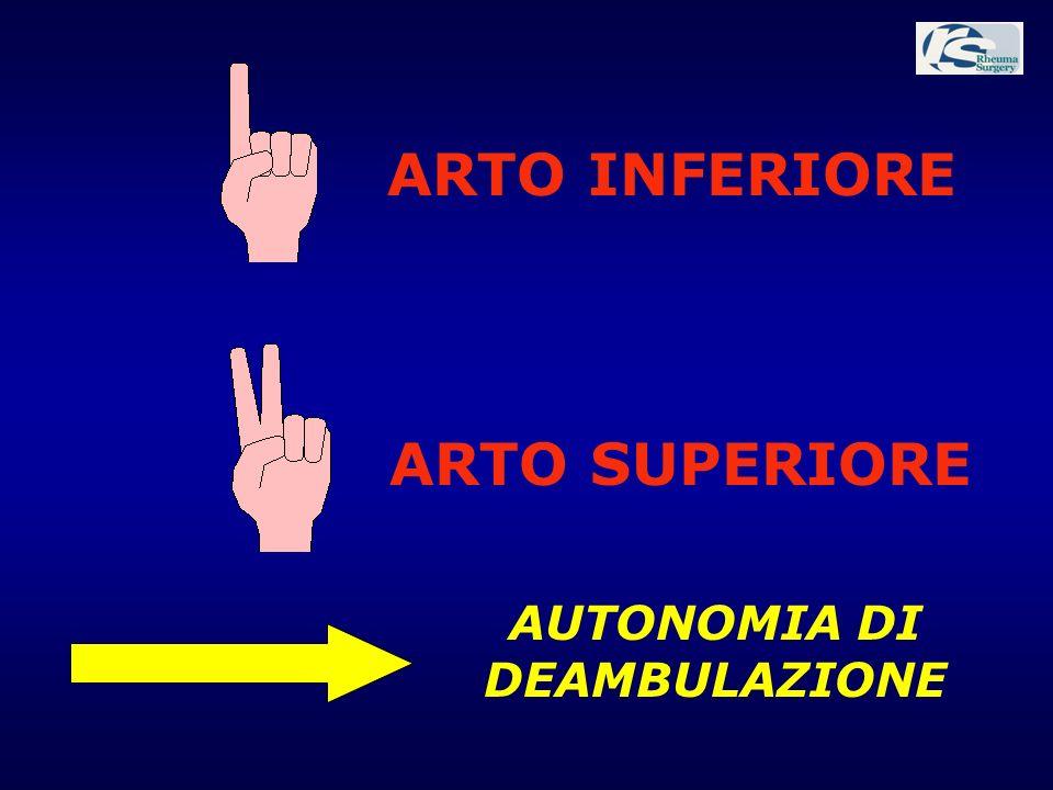 ARTO INFERIORE ARTO SUPERIORE AUTONOMIA DI DEAMBULAZIONE
