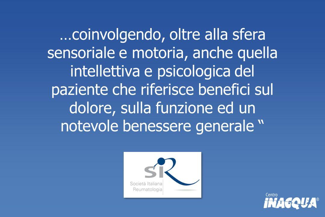 …coinvolgendo, oltre alla sfera sensoriale e motoria, anche quella intellettiva e psicologica del paziente che riferisce benefici sul dolore, sulla fu