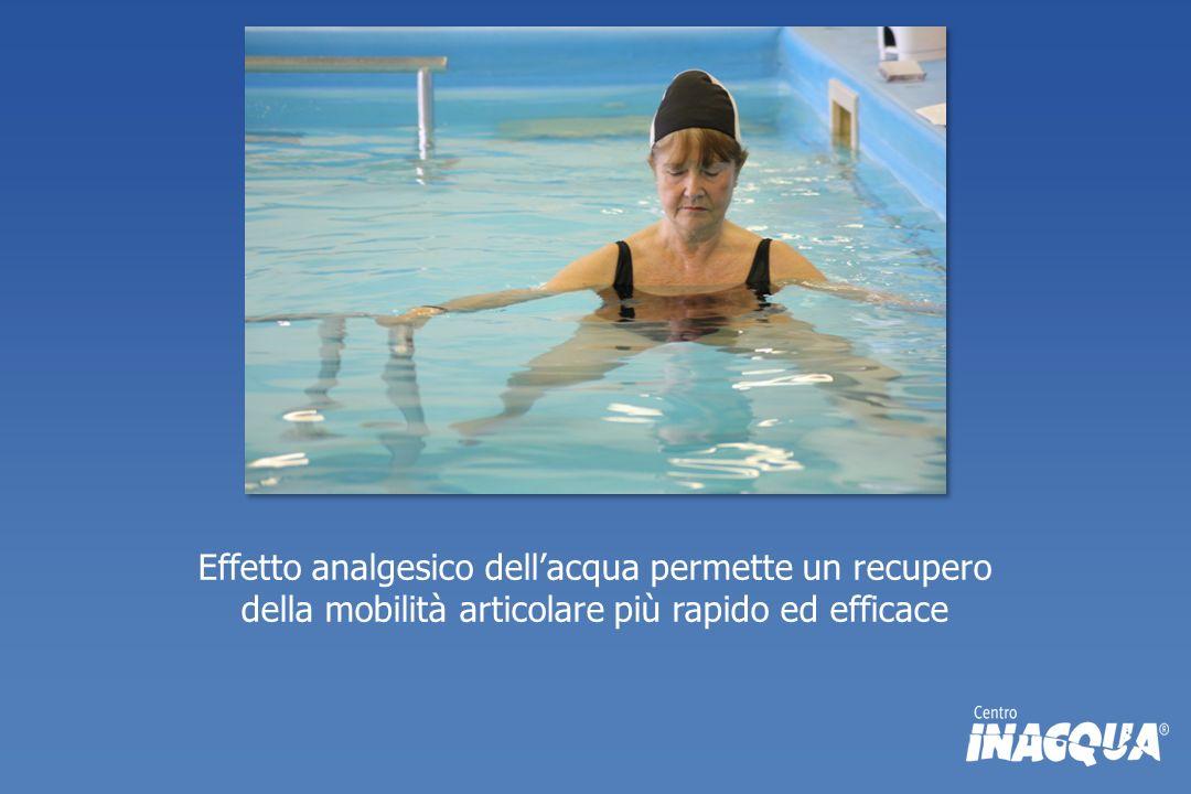 Effetto analgesico dellacqua permette un recupero della mobilità articolare più rapido ed efficace