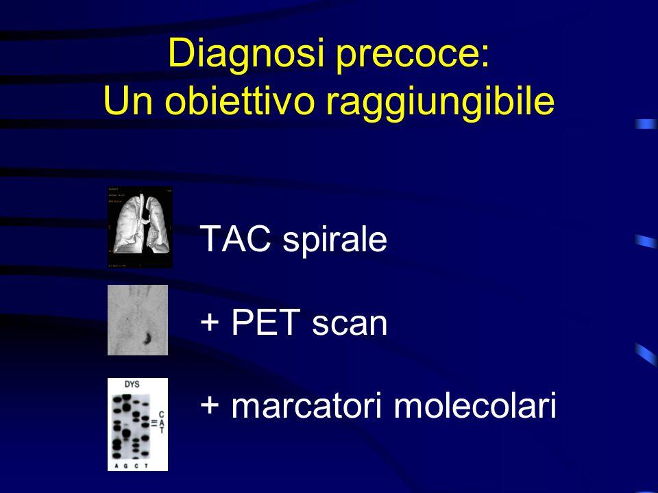 Diagnosi precoce: Un obiettivo raggiungibile TAC spirale + PET scan + marcatori molecolari