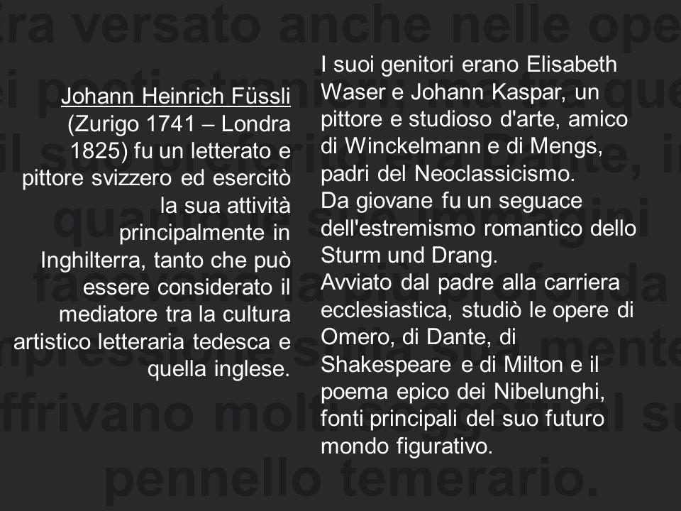 Era versato anche nelle opere dei poeti stranieri; ma tra questi il suo preferito era Dante, in quanto le sue immagini facevano la più profonda impres