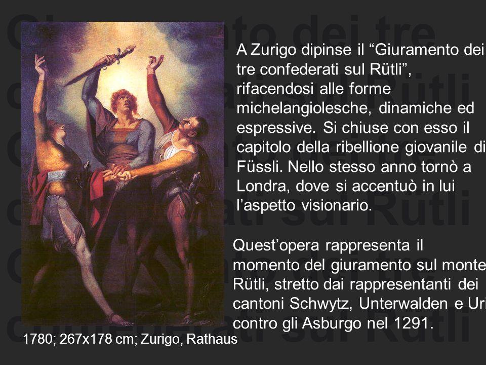 Giuramento dei tre confederati sul Rütli Giuramento dei tre confederati sul Rütli Giuramento dei tre confederati sul Rütli A Zurigo dipinse il Giurame