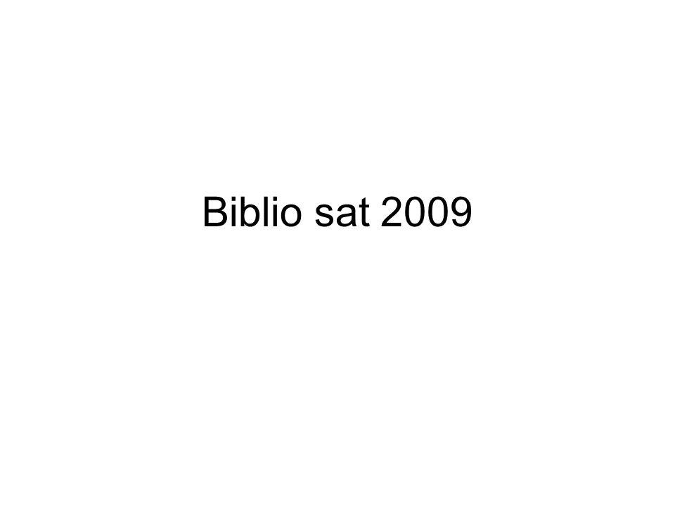 Biblio sat 2009