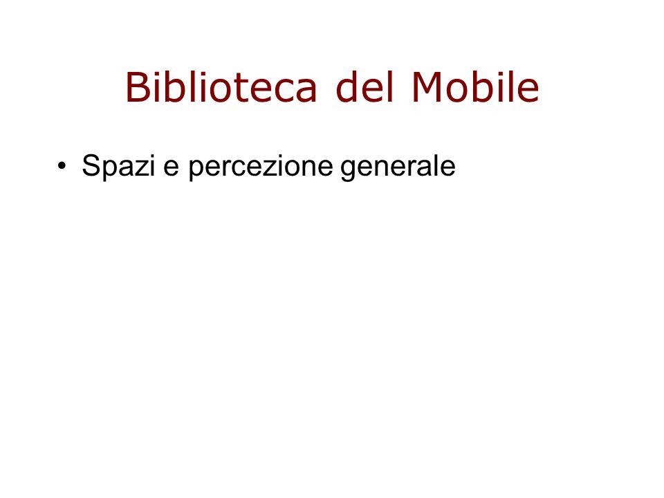 Biblioteca del Mobile Spazi e percezione generale