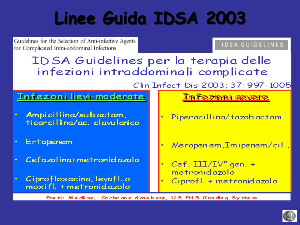 Linee Guida IDSA 2003
