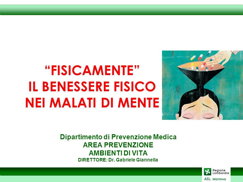 Dipartimento di Prevenzione Medica AREA PREVENZIONE AMBIENTI DI VITA DIRETTORE: Dr.
