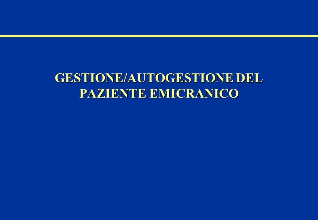GESTIONE/AUTOGESTIONE DEL PAZIENTE EMICRANICO