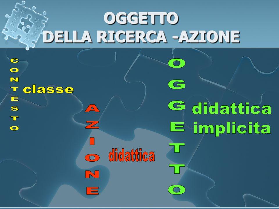 OGGETTO DELLA RICERCA -AZIONE