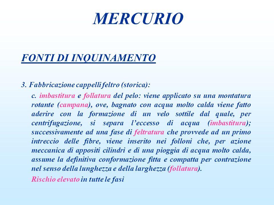 TOSSICITA Cloruro mercuroso (Hg 2 Cl 2 ) n acrodinia n malattia rosa MERCURIO