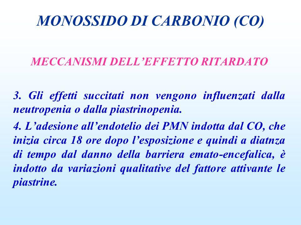 MECCANISMI DELLEFFETTO RITARDATO 3. Gli effetti succitati non vengono influenzati dalla neutropenia o dalla piastrinopenia. 4. Ladesione allendotelio