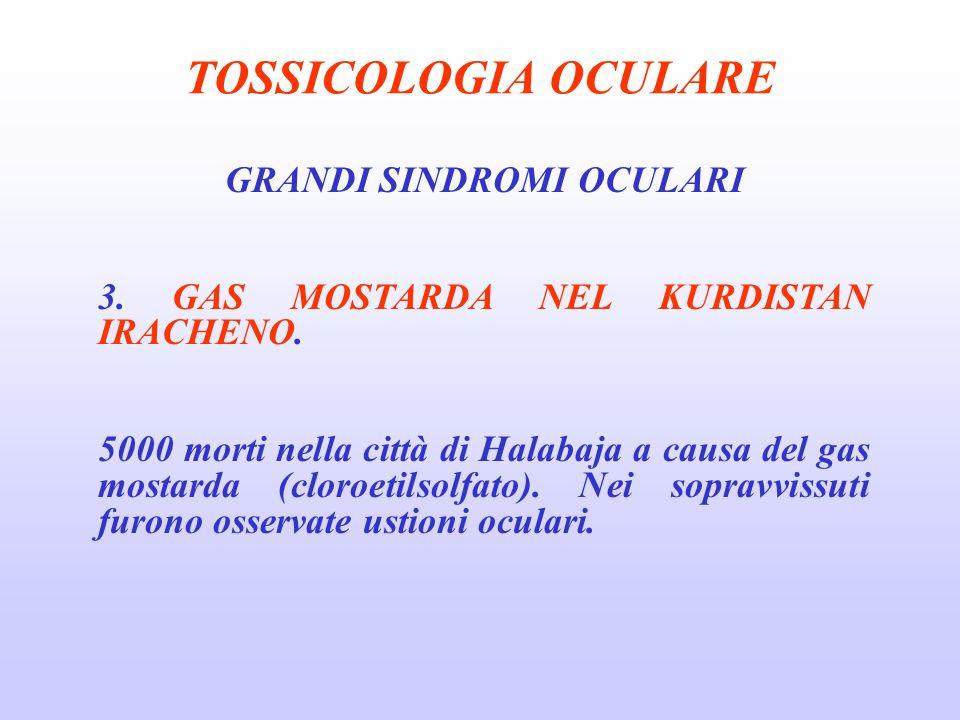 TOSSICOLOGIA OCULARE GRANDI SINDROMI OCULARI 3.GAS MOSTARDA NEL KURDISTAN IRACHENO.