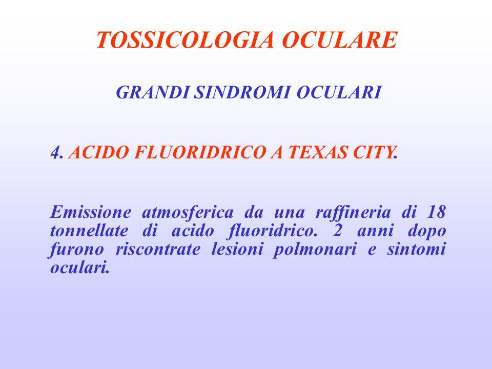 TOSSICOLOGIA OCULARE GRANDI SINDROMI OCULARI 4.ACIDO FLUORIDRICO A TEXAS CITY.