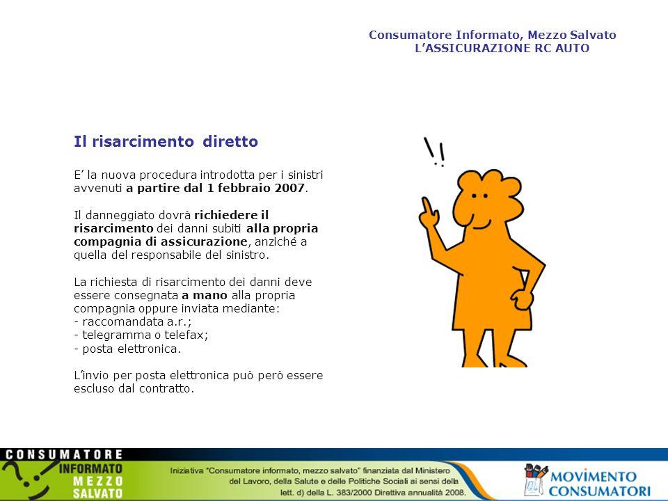 Il risarcimento diretto: quando si applica La procedura è applicabile quando: - il sinistro è accaduto in Italia fra veicoli immatricolati in Italia; - i veicoli sono assicurati con imprese italiane oppure con imprese straniere stabilite in Italia e che abbiano aderito al sistema di risarcimento diretto; - nel sinistro non siano coinvolti più di due veicoli; - nel caso sia coinvolto un ciclomotore, questo sia dotato della targa di nuovo tipo; - non ci sia responsabilità di terzi; - le lesioni al conducente risultino contenute fino al 9% di invalidità permanente biologica (non cè limite per i danni subiti dai passeggeri).