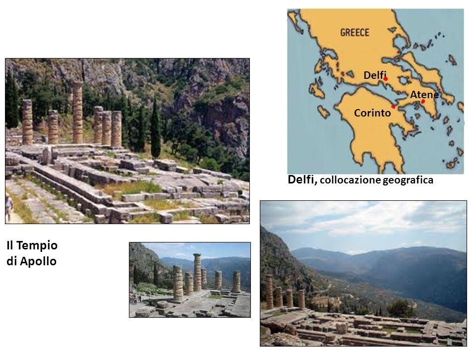 Delfi, collocazione geografica Delfi Corinto Atene Il Tempio di Apollo