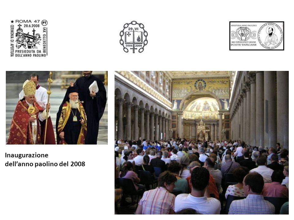 Inaugurazione dellanno paolino del 2008