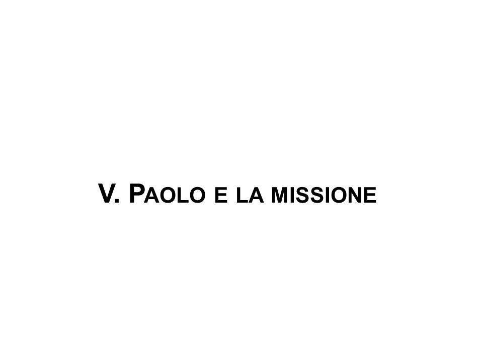V. P AOLO E LA MISSIONE