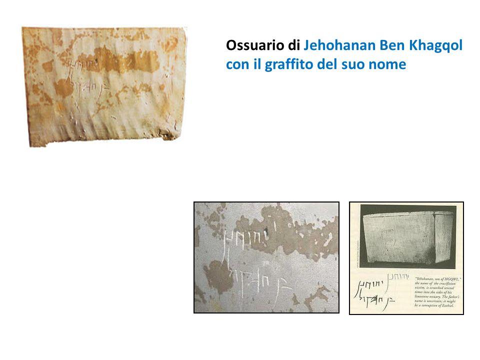 Ossuario di Jehohanan Ben Khagqol con il graffito del suo nome