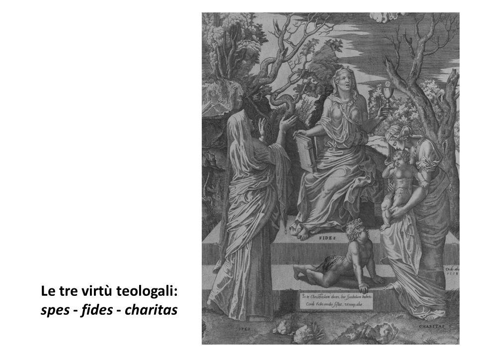 Le tre virtù teologali: spes - fides - charitas