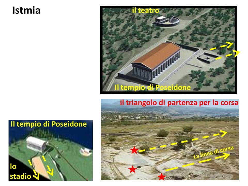 triangolo di partenza per la corsa Istmia luogo dellagonotèta (= arbitro)