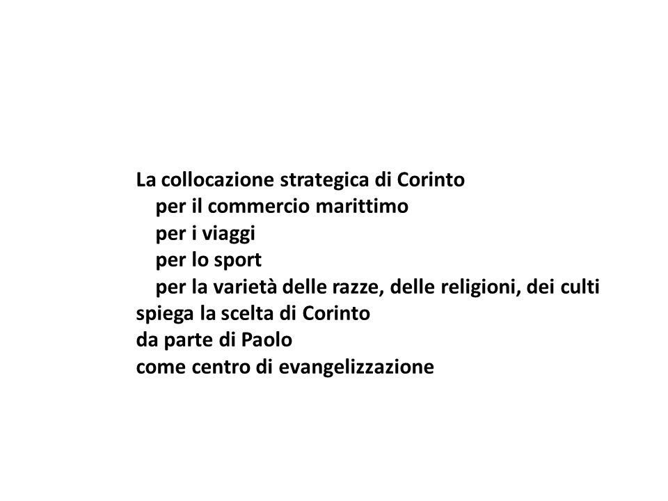 La collocazione strategica di Corinto per il commercio marittimo per i viaggi per lo sport per la varietà delle razze, delle religioni, dei culti spie