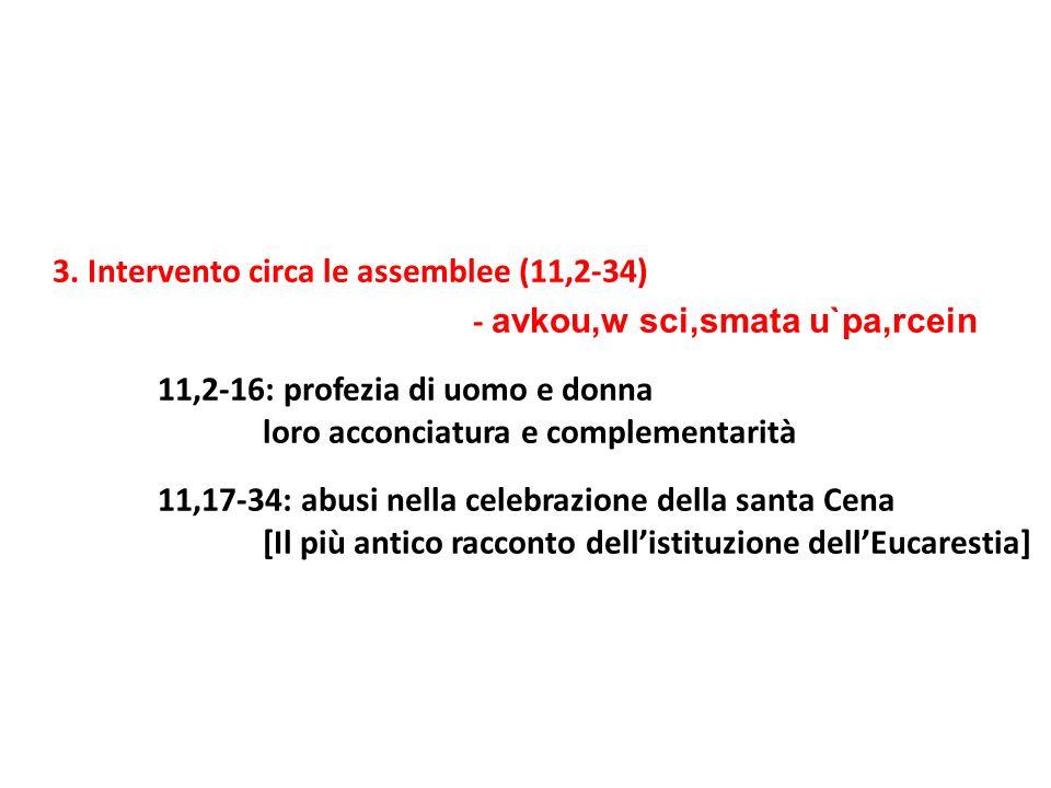 4.Risposta circa i carismi (12,1-14,40) - peri. de.