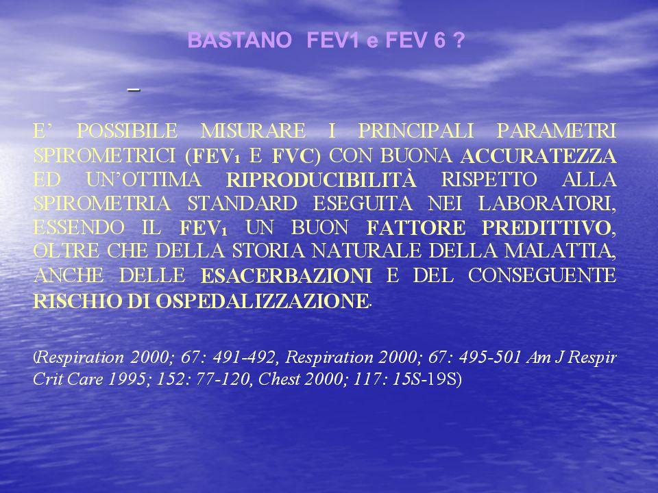 – BASTANO FEV1 e FEV 6 ?