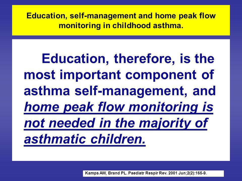 Education, self-management and home peak flow monitoring in childhood asthma.
