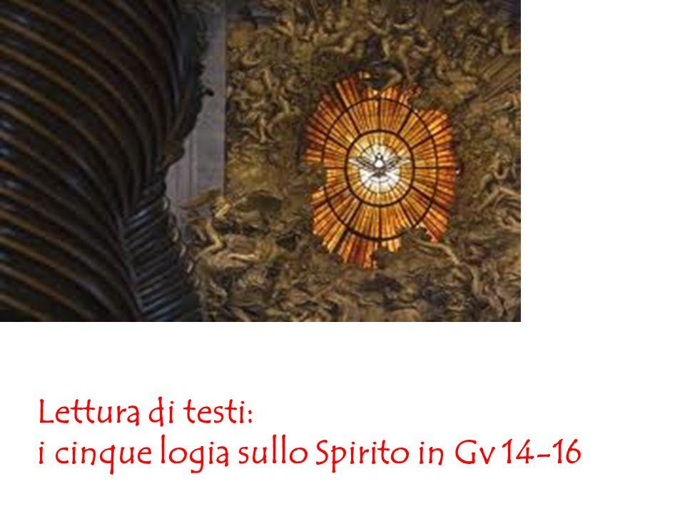 Lettura di testi: i cinque logia sullo Spirito in Gv 14-16