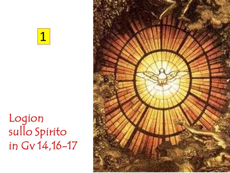 Primo logion (Gv 14,16-17) « 15 Se mi amate, osserverete i miei comandamenti 16 e io pregherò il Padre ed egli vi darà un altro Paràclito ( a;llon para,klhton ) perché rimanga con voi per sempre, 17 lo Spirito della verità ( to.