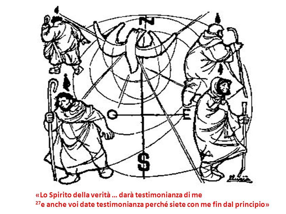 «Lo Spirito della verità … darà testimonianza di me 27 e anche voi date testimonianza perché siete con me fin dal principio»