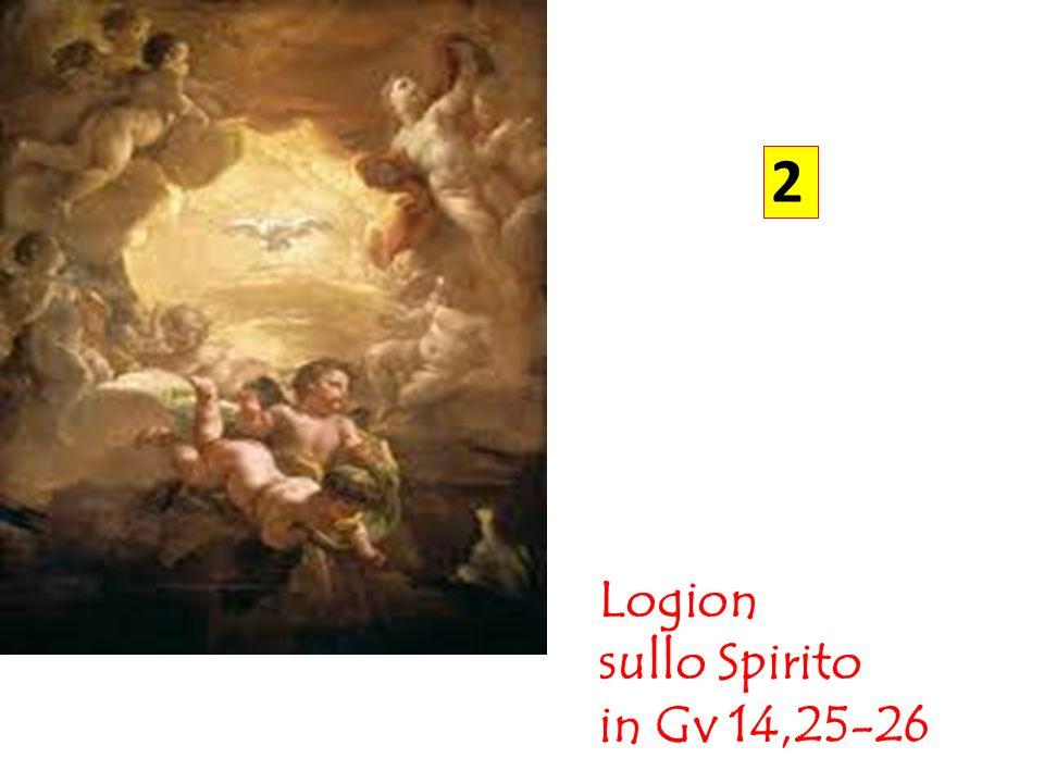 Secondo logion (Gv 14,25-26) « 25 Vi ho detto queste cose mentre sono ancora presso di voi.