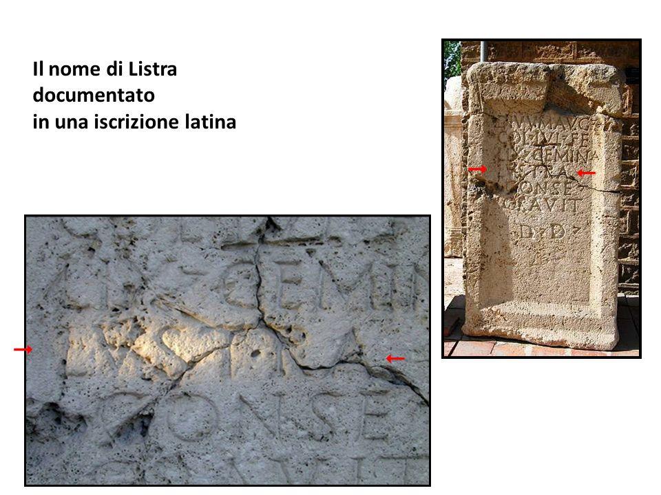 Il nome di Listra documentato in una iscrizione latina