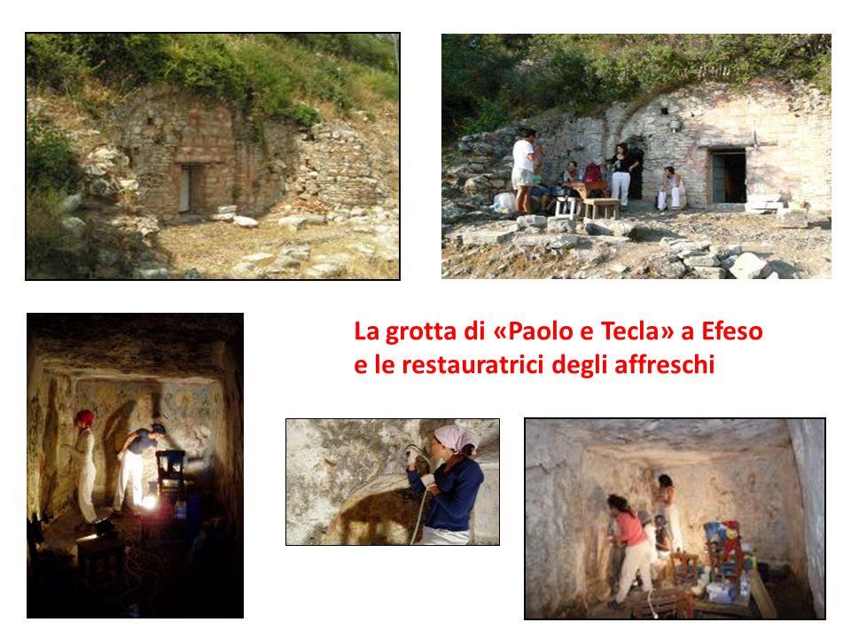 La grotta di «Paolo e Tecla» a Efeso e le restauratrici degli affreschi