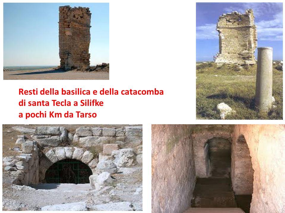 Resti della basilica e della catacomba di santa Tecla a Silifke a pochi Km da Tarso