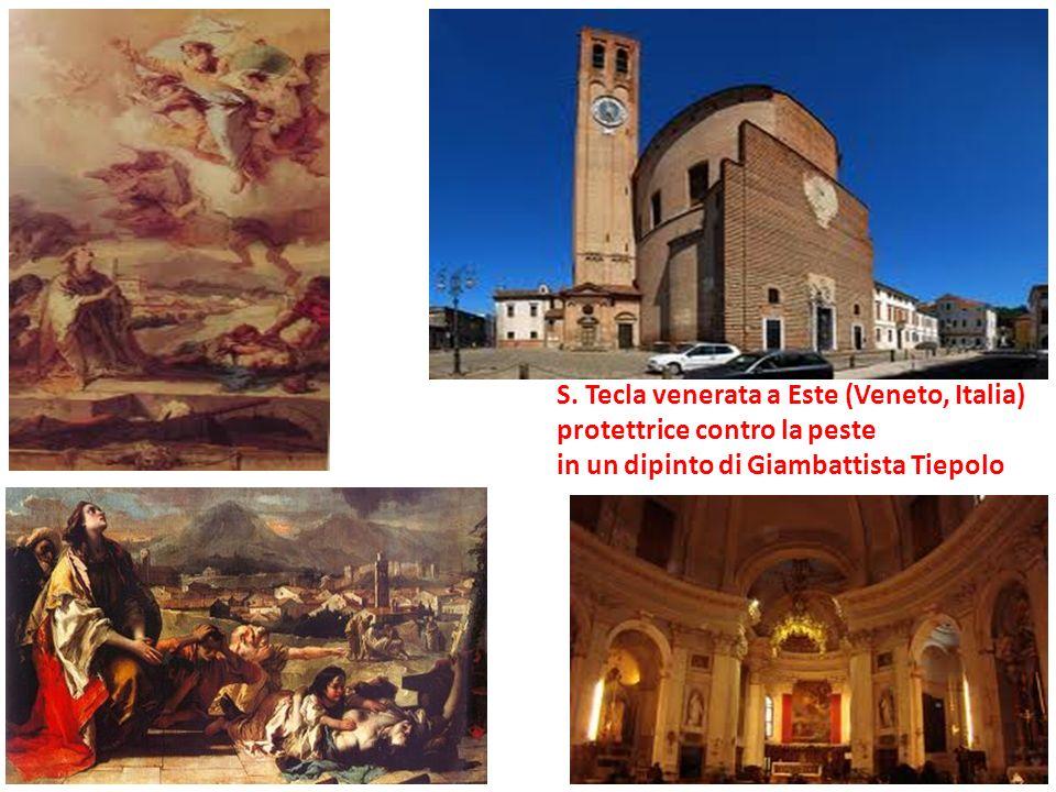 S. Tecla venerata a Este (Veneto, Italia) protettrice contro la peste in un dipinto di Giambattista Tiepolo