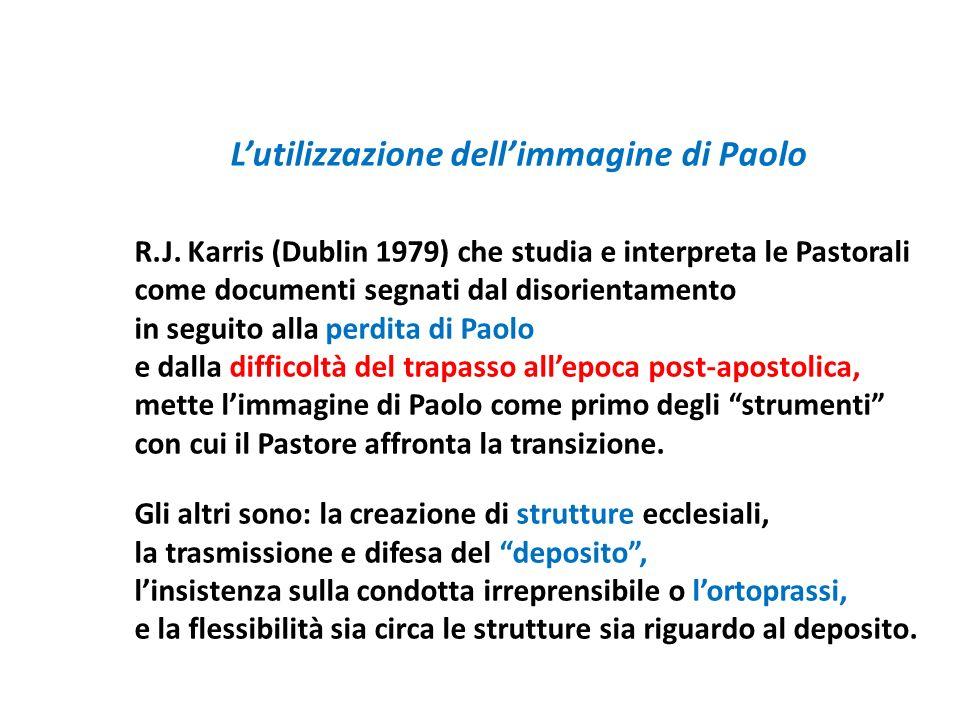 Lutilizzazione dellimmagine di Paolo R.J. Karris (Dublin 1979) che studia e interpreta le Pastorali come documenti segnati dal disorientamento in segu